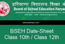 Board Exams Date Sheet