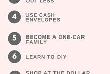 Frugal Living Tips / Simple ideas on how to be frugal and save money in your life. Simplify your finances so you can be debt free.