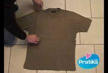 Shirts zusammenlegen