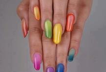 Nail Art - Degrade e Multicolor