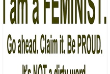 **The *F* Word** / This is a group board dedicated to the *F* word - FEMINISM.  Please feel free to pin your favorites regarding feminism, the war of women, women's reproductive and health issues and more.  Invite your feminist friends!  And yes, we LOVE male feminists.  NO SPAM, NO SELLING OF PRODUCTS.   / by Stacerina Ray