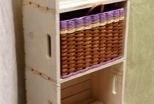 Crate Designs / We love how you can do so many things with crates, so we designed baskets to go in them.