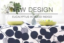Eucalyptus Range / Introducing our new design Eucalyptus design to our collections of textiles for the home.