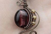 Jewelry-Wire Wrap-center stones