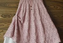 faldas tejidas + tela