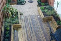 Small BackYard Ideas / Small Yard, Gardening, Drainage, Patio, Balcony Dividing Yard Areas