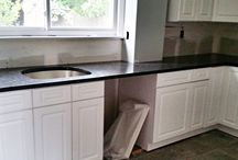 Steel Gray Granite Countertop Installation in Woodridge, NJ