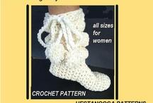 cozy crochet  slippers!!!