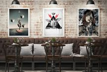 Cocktail Bar Collection / Powerful images, intense colors, impressive characters, visionary worlds and visually exciting combinations to give a strong personality to your walls.  The collection includes 7 artworks – illustrations and collages – by Dano Marello, Ricardo Calvo Untoria, SLip, Vincent Moro, George Pazalos, Francesco Tortorella, Luis Enrique Cuellar. Artworks come ready to hang.  Our suggestion: this is a perfect set for a cocktail bar. Arrange the artworks as you like to best fit your space