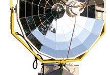 Concentrating solar parabolic system CSPS M25 / Solar energy