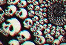 Creepie tridimensional skull