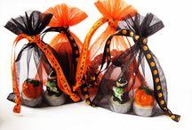 Halloween / Geschenkverpakkingen, zakjes en tasjes van organza, velours, satijn en stof voor Halloween
