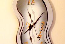 Melting wall clocks / The melting wall clock design transforms the atmosphere at your place. This surrealistic Art design is an unconscious symbol of the relativity of space and time, in this melting clock the ever-present fluidity of time is not only moving, but dancing in rhythm to the beat of the universe, it must be remembered that time, as we understand it, is a human notion.. handcrafted & painted with acrylic spray on thin plywood. 6 unique  designs & 6 colour shades. etsy.com/shop/SurrealisticArtworks.
