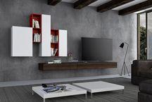 Arredamento salotto - Casablanca di Zanette / Casablanca, il programma di Zanette per l'arredamento della zona giorno, si rinnova con i nuovi mobili contenitori, basi e pensili che diventano soluzioni versatili e funzionali, geometriche e vivaci.