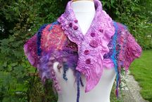 Felting art own work / Felted shawl