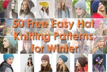 Knit Hat Patterns / FREE hat knitting patterns! Choose from easy hat knit patterns to more complex and intermediate hat patterns. Cable hat knit patterns, lace hats, ribbed hats, fair isle hats, garter stitch and stocking stitch hats, Aran hat knitting patterns and more, the ultimate resource for beanies, berets, slouchy hats, hats with earflaps, pompoms and everything in between, enjoy!