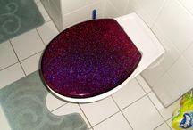 purple glitter toilet seat / purple glitter toilet seat