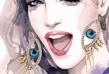 Ilustração Da Aguarela / Aquarelas Inspirações Mulheres Fashion