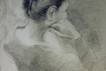 Drawings_artlidia / Sketches of models - pencil, ink, charcoal
