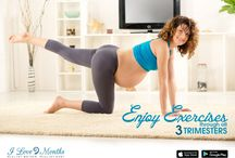 Exercises for Pregnancy / Learn exercises that can be safely done throughout 3 trimesters to build your stamina, strength, flexibility and wellness.