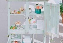 tea cup window display