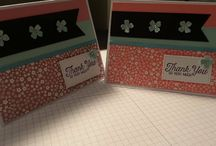 simple card using stampin up scraps
