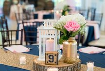 navy decoration for engagement party