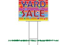 Yard signs / Place these in your yard for easy, but effective advertising!