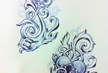Tattoo/ drawings / by Mandy Pemberton