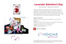 Lovendar VDay Giveaway - winner's board / This contest is over, but here is J. Howard's winning board!  / by Lovendar .com
