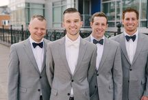 Well-Dressed Grooms and Groomsmen