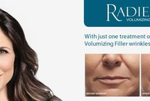 RADIESSE® / RADIESSE® is an injectable dermal filler that temporarily adds volume to help smooth moderate to severe facial wrinkles and gives an immediate lifting and firming effect of the skin. Once injected, RADIESSE® directly provides volume and lift needed to diminish the signs of ageing because of the calcium-based microspheres and gel that comprise the product. Both the gel and the microspheres are completely broken down by the body over time.