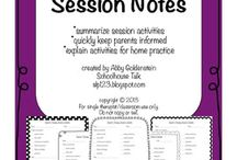 Quick and easy way for SLT's to make notes in a session