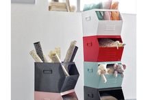 Rangements pour toute la maison / Des idées pour que tout soit bien rangé. Des paniers, des casiers, des caisses, des boîtes ....