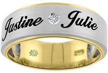 Engraved Gold Jewellery / You can engrave anything on a gold jewellery. You can engrave name, date, initials etc on rings, pendant, bracelet etc