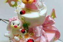 krstinové krásne torty