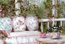 Розовый винтаж