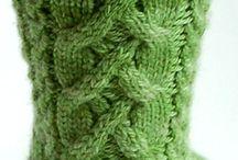 Knitting - socks - cable