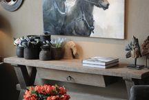 Landelijke tuinkamer paard