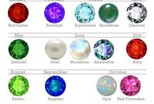Birthstone List / #Birthstone lists, birthstones by #month, by #day of the week, by #season, birthstone #color charts, and all else birthstone. :)