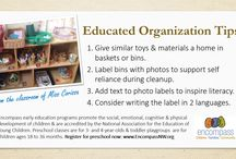 Educated Organization | From the Encompass Preschool / Tips on organizing toys, materials and play areas to support important skills such as self reliance, early literacy, executive function and more.