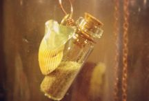 Beach Bottle Necklaces / Find beach bottles, mini glass bottles, beach glass & cords at www.eCrafty.com ~ Happy Pinspiration!