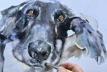 dog watercoloring