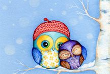 OWL me always ♥ / ... I have some kind of oppression with this cute owls :) Some people knows why :) Let's keep it as a secret ♥ / by Kristina Vf
