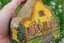 fára festett ház