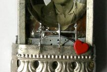 Altered Art | Mixed Media | Collage / Art made with paper and found objects. / by forrestina vintage