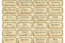 Spice and herb jar labels