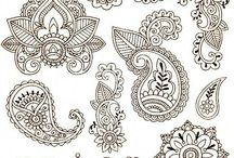 Henna, vector, braclet , jew