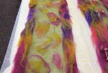 Nuno felting Tutorials / Nuno felting ideas using silk and organza fabrics.