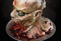 Scary Zombie Cakes / These Zombies cakes are deliciously disgusting. #hanging-zombie #halloween #living-dead #cakecentral